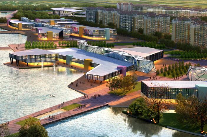 [山东]博兴生态型城市综合片区设计(生态、休闲、娱乐)