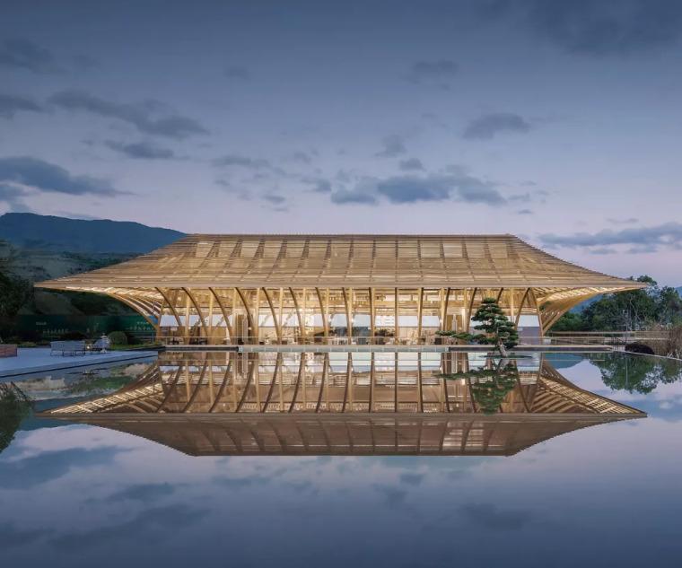泰禾青云小镇,'鱼腹式'桁架结构回应宋代建筑