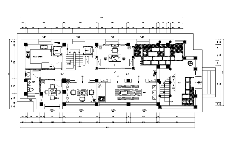 茶楼餐厅效果图资料下载-新中式禅意茶楼会所室内设计施工图(附效果图)