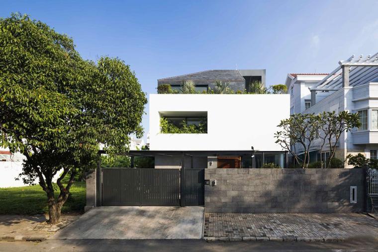 越南胡志明白色方块住宅