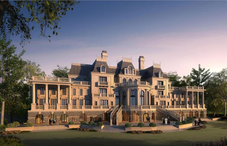 [福建]福州淮安半岛2期法式独栋豪宅模型设计