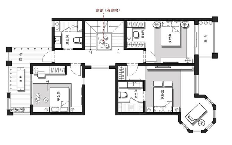 [江苏]世尊家居别墅室内设计效果图方案