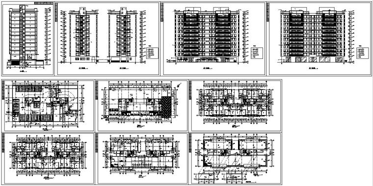 现代高层商住楼建筑设计方案初设图CAD-9