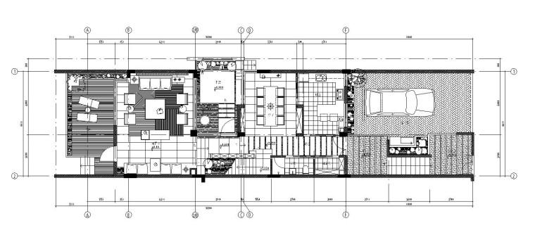 新中式三层独栋别墅内部装修施工图(附效果图)