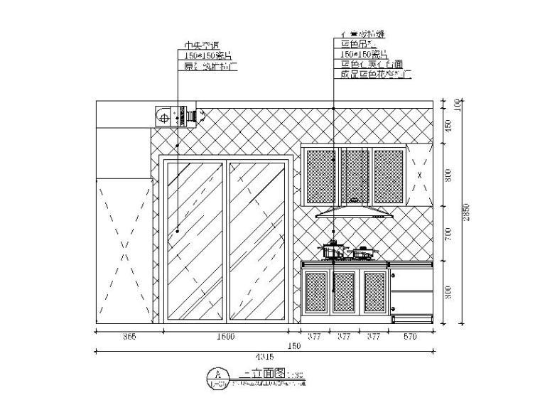 【贵州】地中海田园风格样板房设计CAD施工图(含效果图)_3