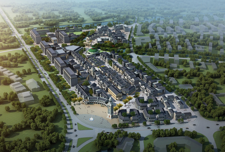[浙江]嘉兴特色影视小镇概念规划设计方案文本