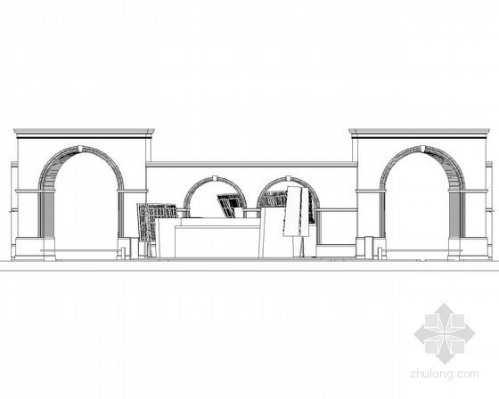 [合集]24套大门建筑施工图(学校、接待中心、公司大门、欧式)_28