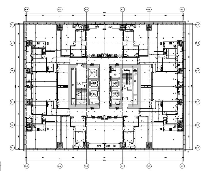 华润公寓样板间A户型设计施工图(附效果图+物料表)