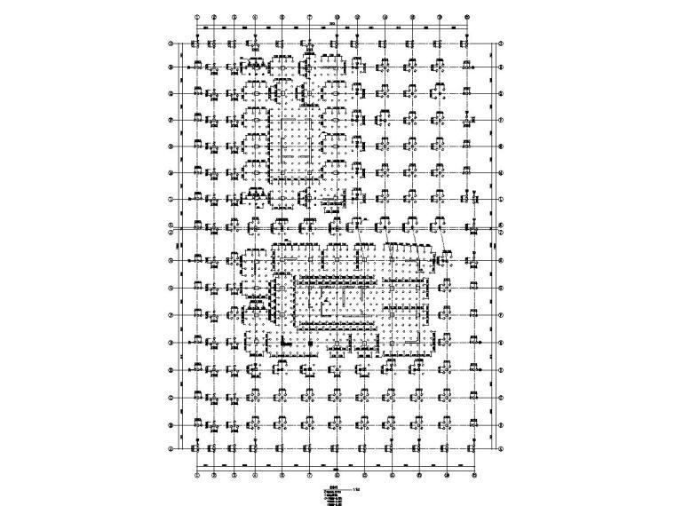公司总部大楼主楼、副楼、裙房建筑结构施工图