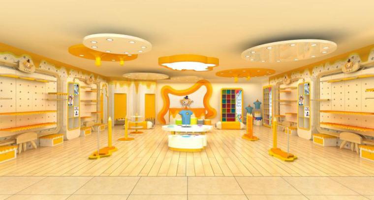 (原创)儿童服装专卖店设计案例效果图
