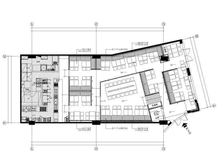 新中式餐饮空间装修施工图(附效果图+概念方案)