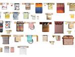 室内设计常用PSD彩色平面图块—床PSD图块