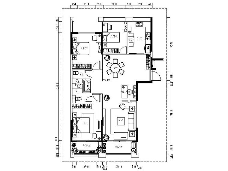 [义乌]现代台式风格住宅设计施工图(含效果图)