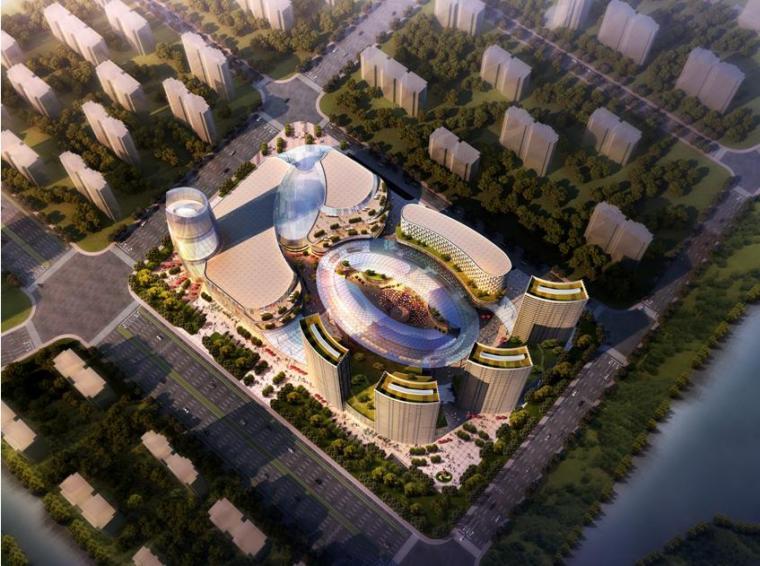 [江苏]超高层现代风格综合性商业综合体建筑设计方案文本