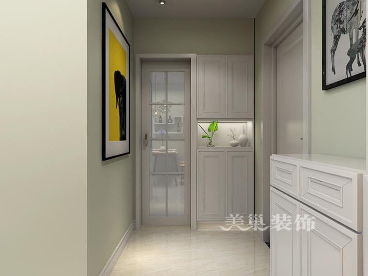 绿都紫荆华庭88平两室装修,7.3万打造柔和稳重简约房