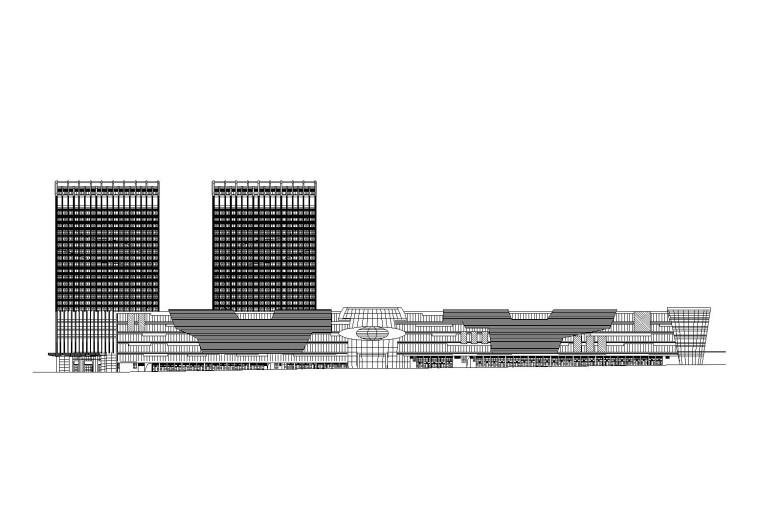 [四川]国际商贸中心城市综合体扩初图(CAD)