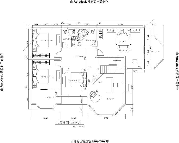 木结构别墅会所建筑设计平面图及效果图