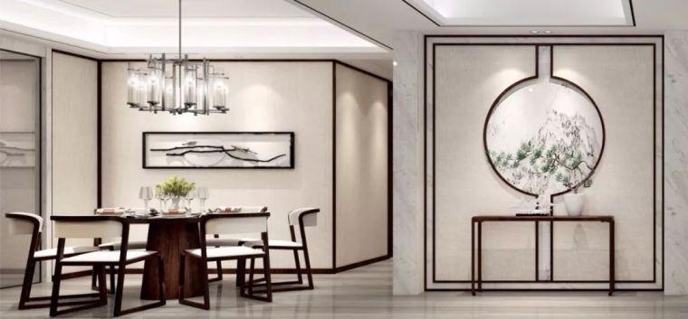 新中式徽派元素山水画为轴线的家装设计_4