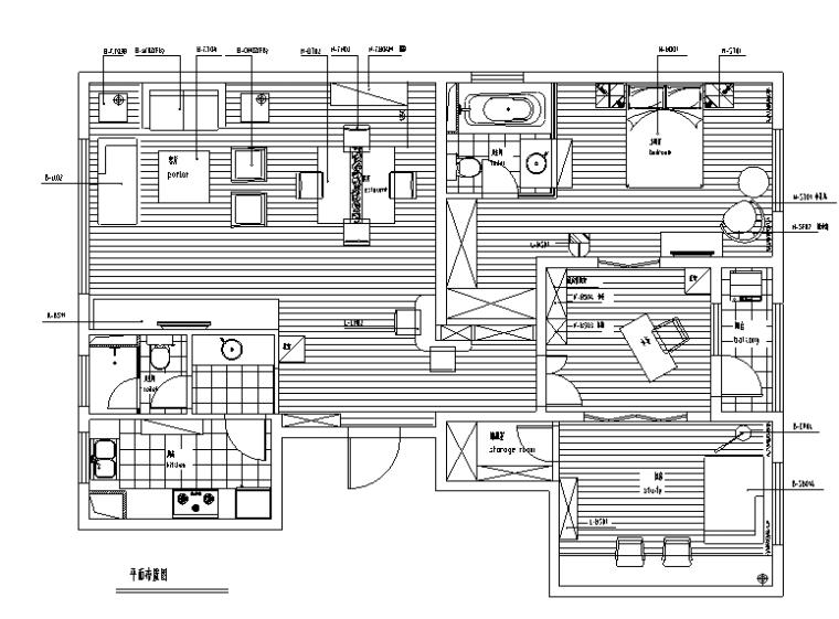 苏州朗诗国际中国风简约东方三居室住宅设计施工图(附效果图)