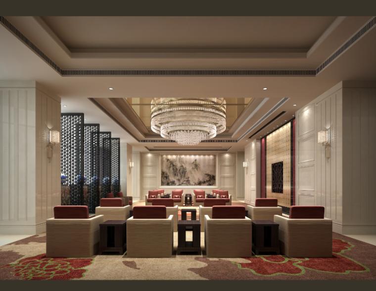 12600平方米酒店空间设计施工图(附效果图)_7