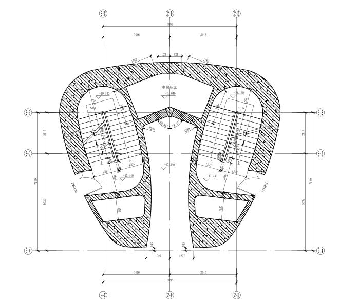 64层框架核心筒结构超高层大厦建筑施工图