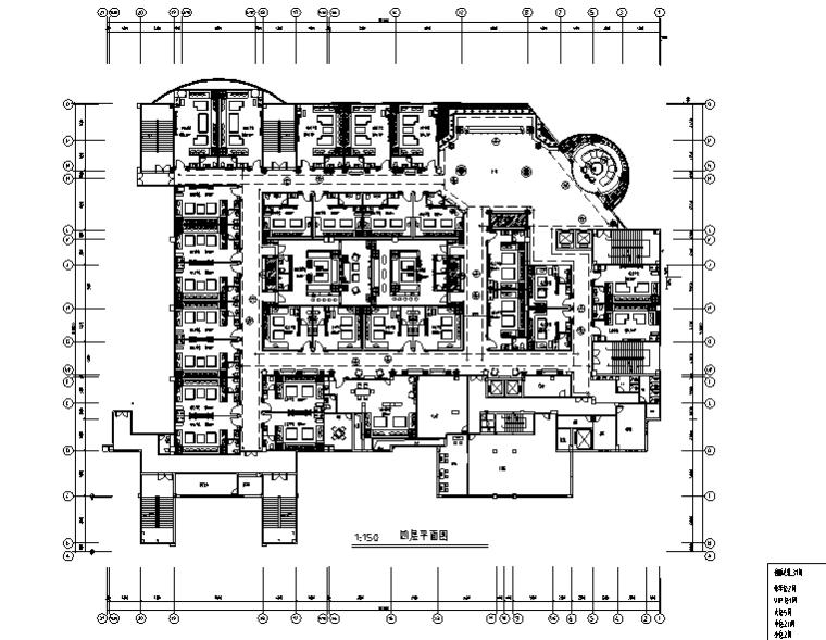 欧式风格会所KTV空间设计施工图(附效果图)