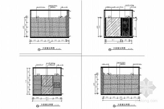 [北京]经济开发区新能源汽车有限公司办公室施工图 大会议室立面图