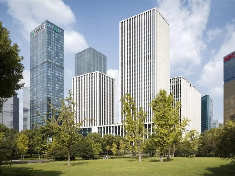 杭州钱塘江畔的高层金融综合体景观