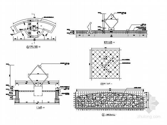 住宅区水景雕塑设计施工详图