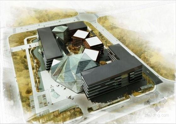 [北京]玻璃晶体式综合酒店服务中心建筑设计方案文本