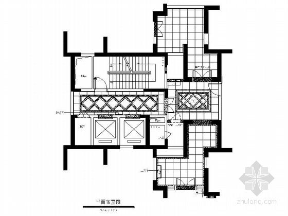 [四川]高端地产小区大堂公共区域施工图(含效果)