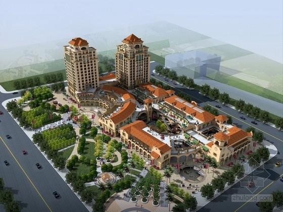[山东]欧式古典风格高层商业综合体建筑设计方案