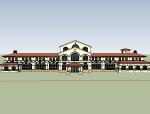 西班牙-海南亚泰温泉酒店(会所)模型设计