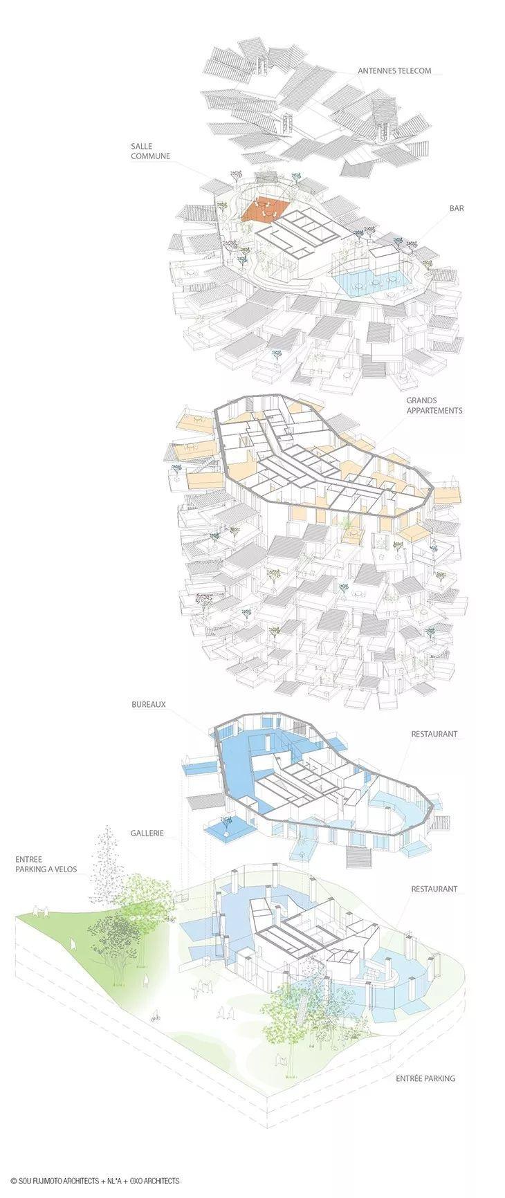 """藤本壮介设计的像树一样的公寓楼建成了,每户都有""""空中花园""""_8"""
