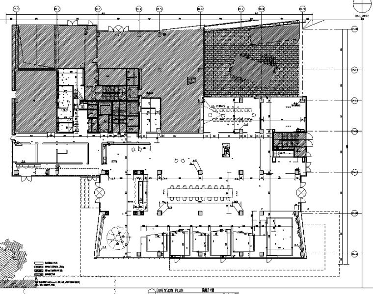 [上海]知名地产御河硅谷售楼空间设计施工图(附效果图+软装方案)-隔墙尺寸图