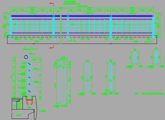 跨河满堂支架法2X25m等高度现浇箱梁桥设计图纸69张CAD