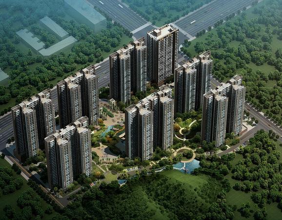 惠州 家悦龙庭建筑是欧式自然园林风格
