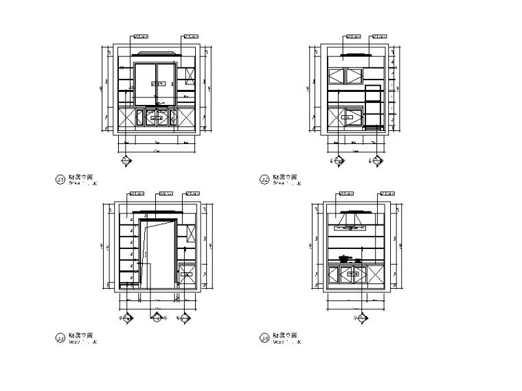 全套欧式风格样板房设计CAD施工图(含效果图)_6