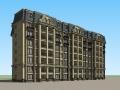 法式风格住宅建筑设计SU模型