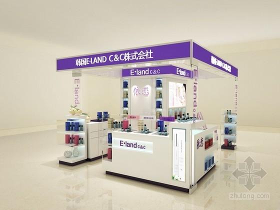 vr展厅3d模型资料下载-化妆品柜台3d模型下载