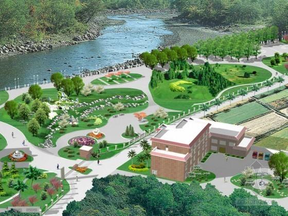 [临安]厂区环境绿化设计效果图