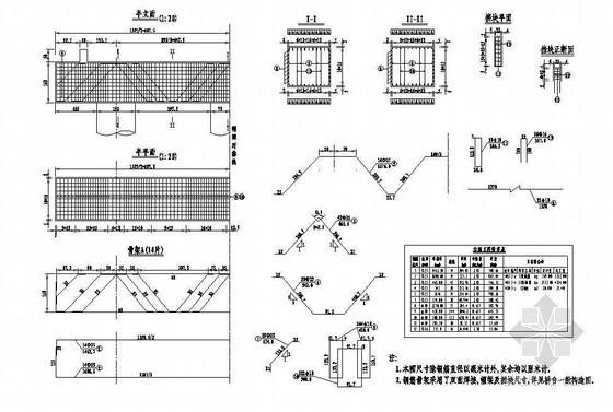 预应力混凝土栏杆详图设计资料下载-预应力混凝土T梁连续刚构桥台台帽钢筋布置节点详图设计