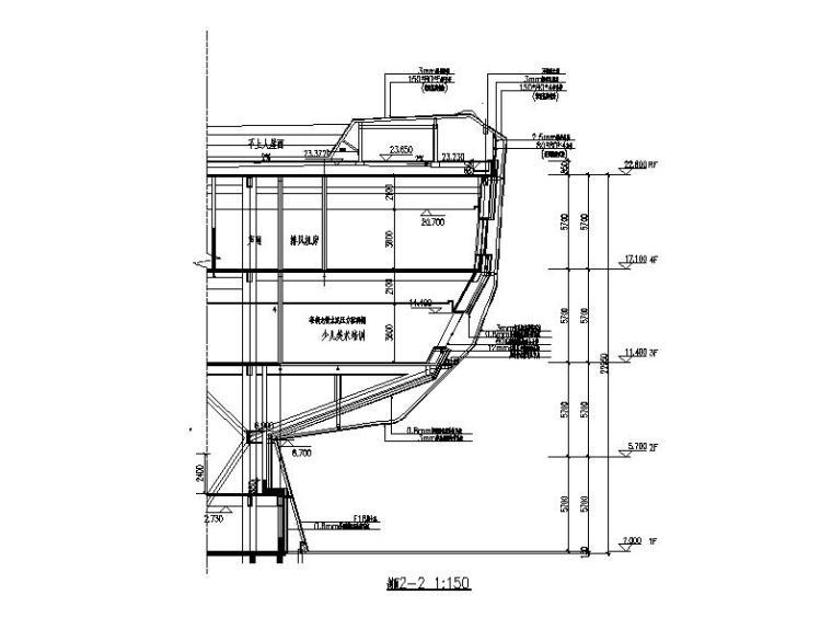 [安徽]四层弧线型文化中心钢结构玻璃幕墙施工图(16年最新)_6