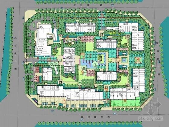 [北京]现代新锐风格居住区景观规划设计方案(知名设计单位)