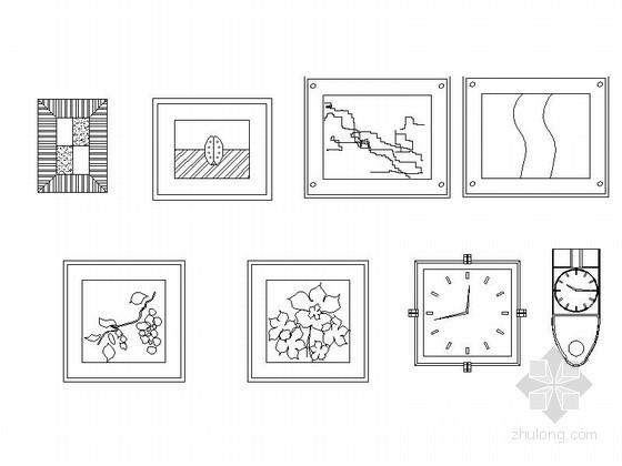 全套字画立面CAD图块下载