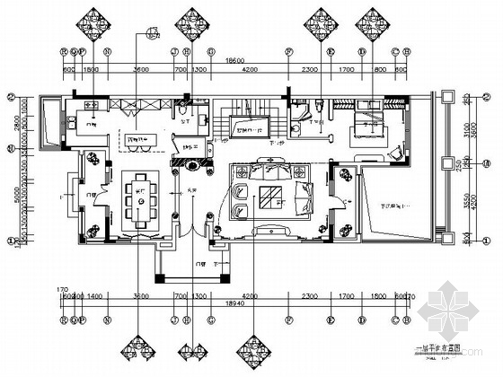 [天津]低调田园质朴三层别墅装修施工图(含效果图)