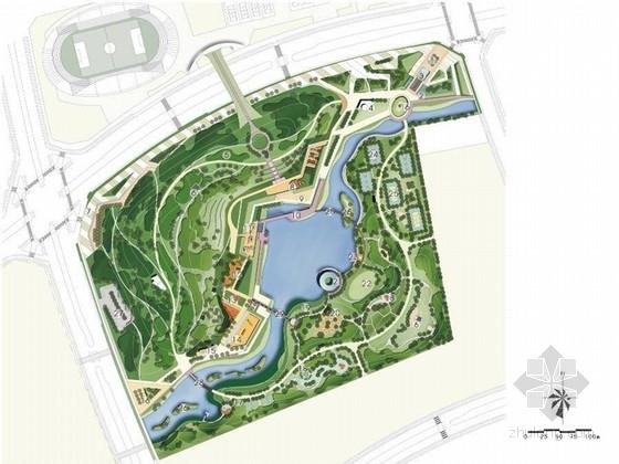 [哈尔滨]山水相依的体育公园景观设计方案