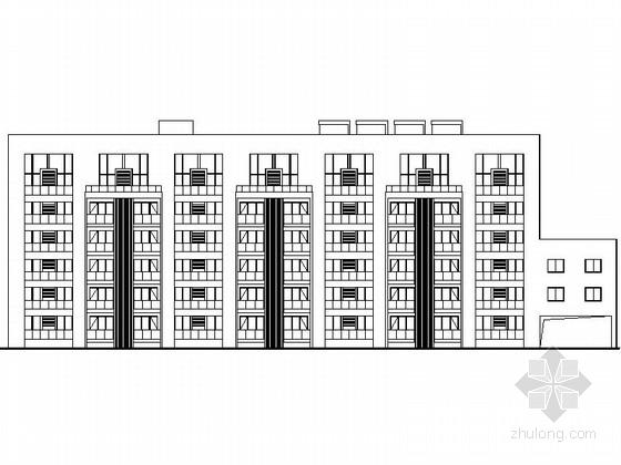[上海]5层现代风格应急办公中心建筑施工图(含效果图)