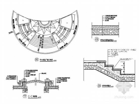 [四川]保障性住房景观设计施工图-节点大样图