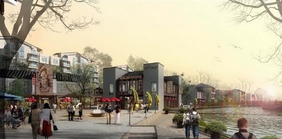 [重庆]巴渝特色国际化城市综合体景观规划设计方案-景观效果图